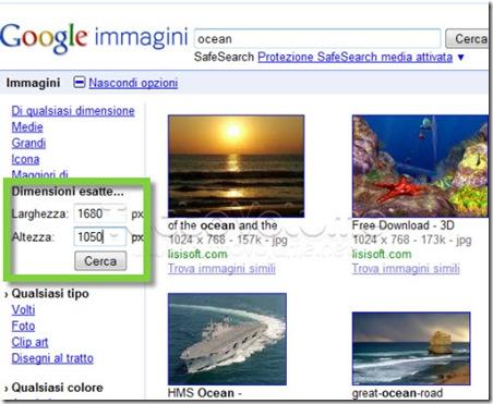 Ricerca wallpaper Google