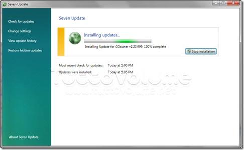 Seven Update Installa Aggiornamento