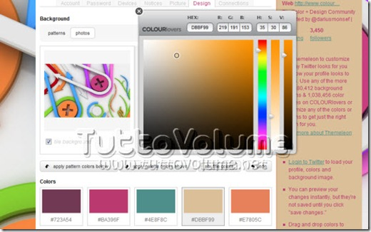 Colorlovers modifica colore