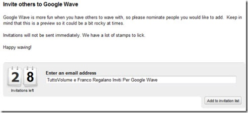 Inviti Google Wave