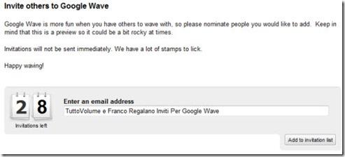 Inviti Google Wave