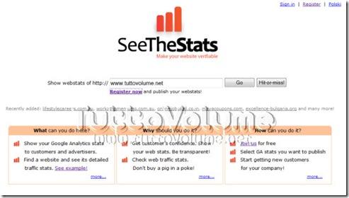 SeeTheStats Condividi Statistiche Google Analytics