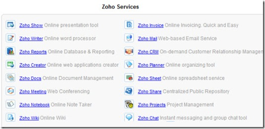 Zoho Service
