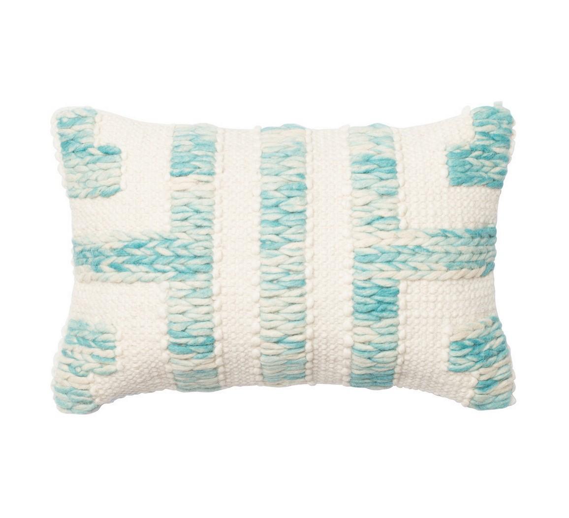 dhurri style blue ivory bolster pillow tuvalu coastal home furnishings