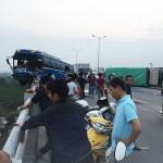 Hiện trường vụ tai nạn. Ảnh: Nguyễn Cường.