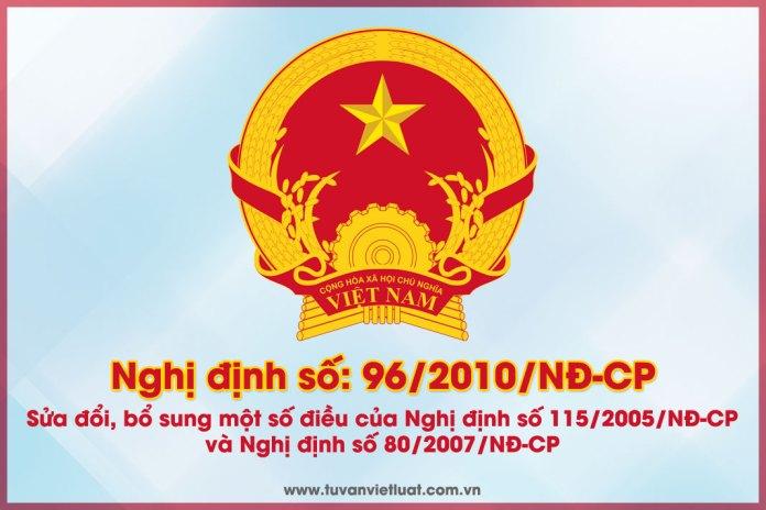 Nghị định số 96/2010/NĐ-CP