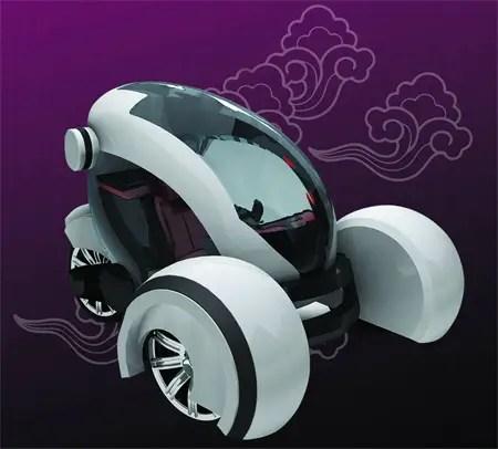 concetto di automobile di onde radio
