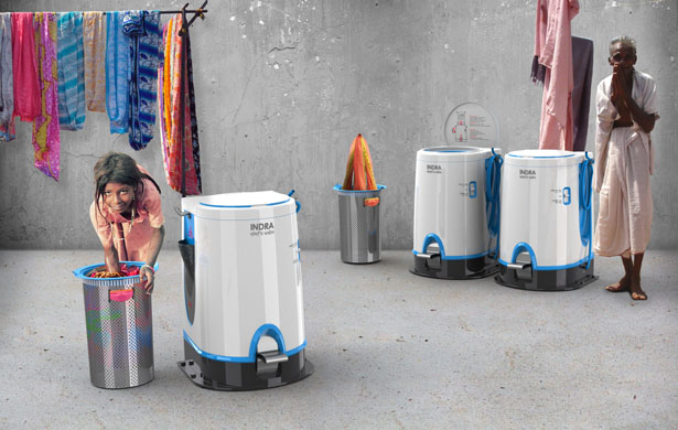 Indra Laundry Machine by Elodie Delassus