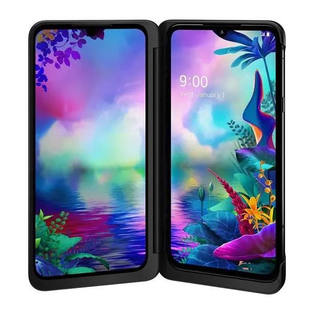 هاتف LG G8X ThinQ ثنائي الشاشة الذكي