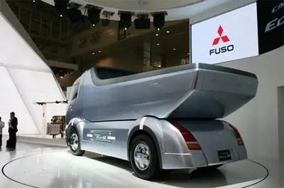 concetto di autocarro con cassone ribaltabile mitsubishi