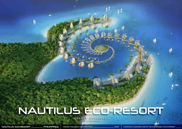 Nautilus Eco Resort Futuristic Biophilic Learning Center