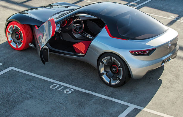 Opel Gt Concept Car Features Panorama Glass Roof And