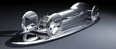 المستقبل مفهوم السيارة mercedes benz silverflow