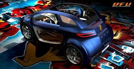 concetto di auto futura vfv