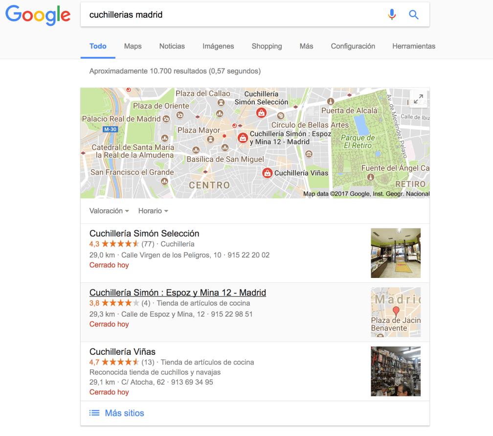 Quiero salir en la primera posicion de las busquedas de google.