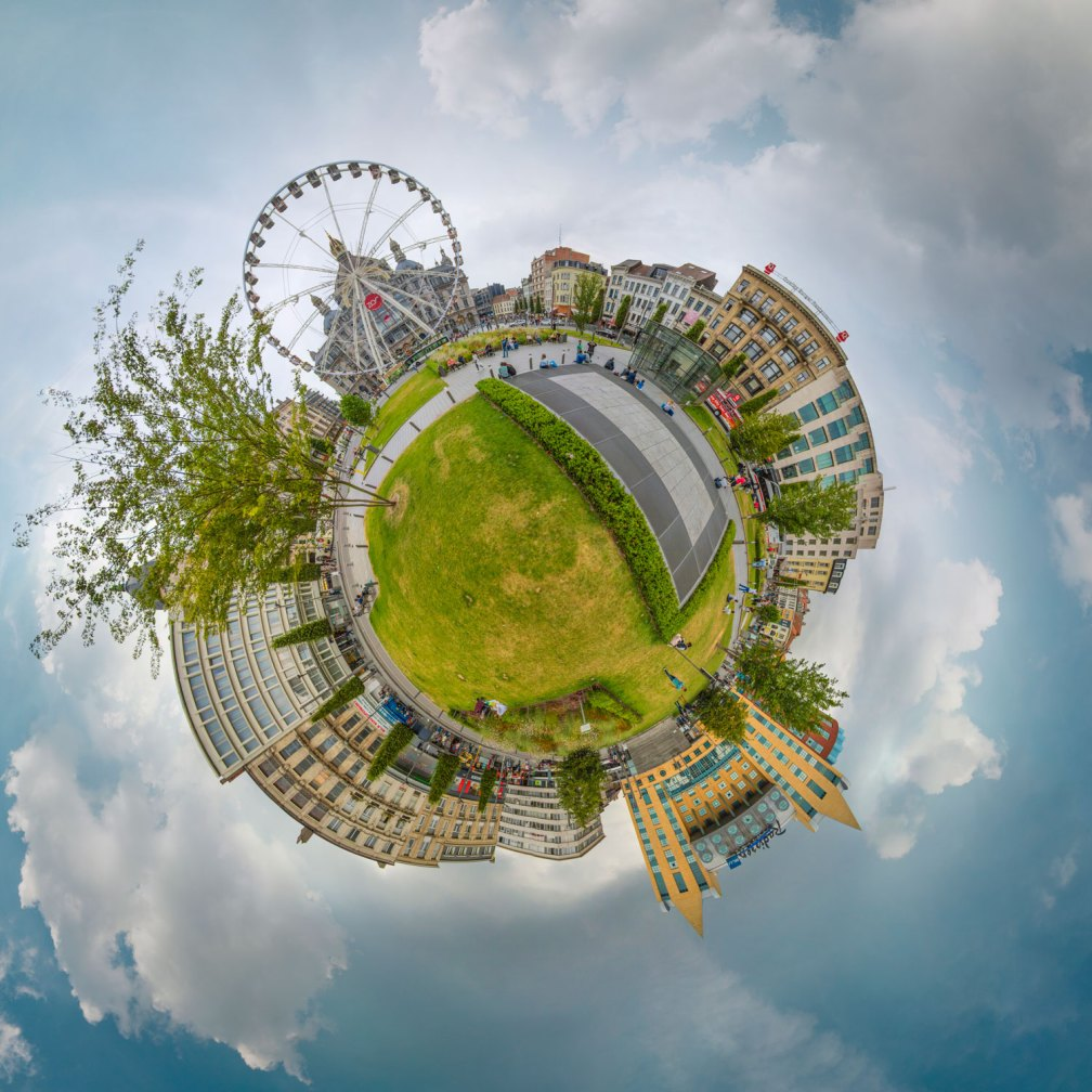 Ejemplo de fotografía little planet