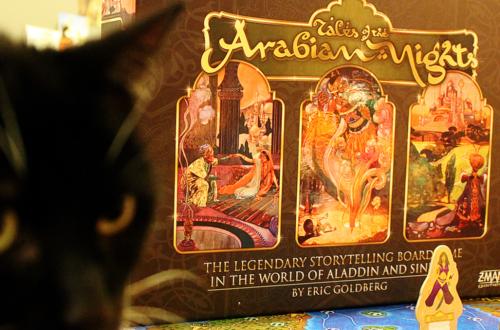 Arabian Nights bordspel, spel met thema van 1001 nacht