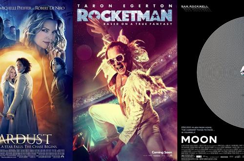 Filmposters Rocketman, Stardust, Moon