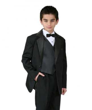 Boys Youth formal tuxedo black shoes.size13 /& 3
