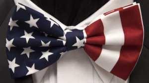American Flag Bowties