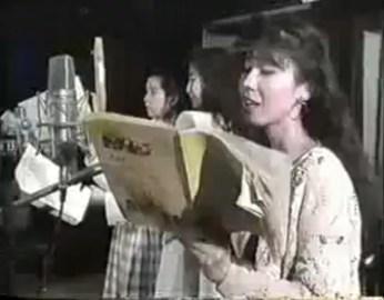 Sailor Moon cast doing an audio recording session