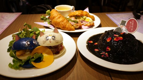 Dinner at the Sailor Moon Cafe