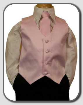 Kid's Pink Vest & Tie
