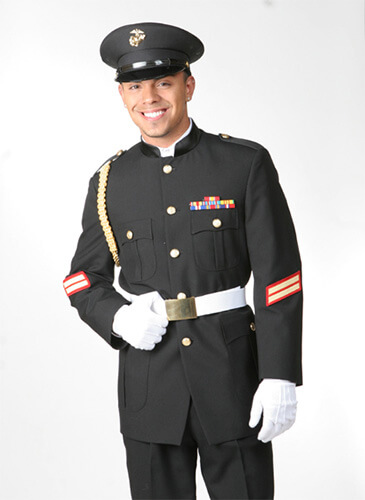 Andrew Fezza Black Cadet Uniform Classic Cadet Military Coat Quincenera, Special Event