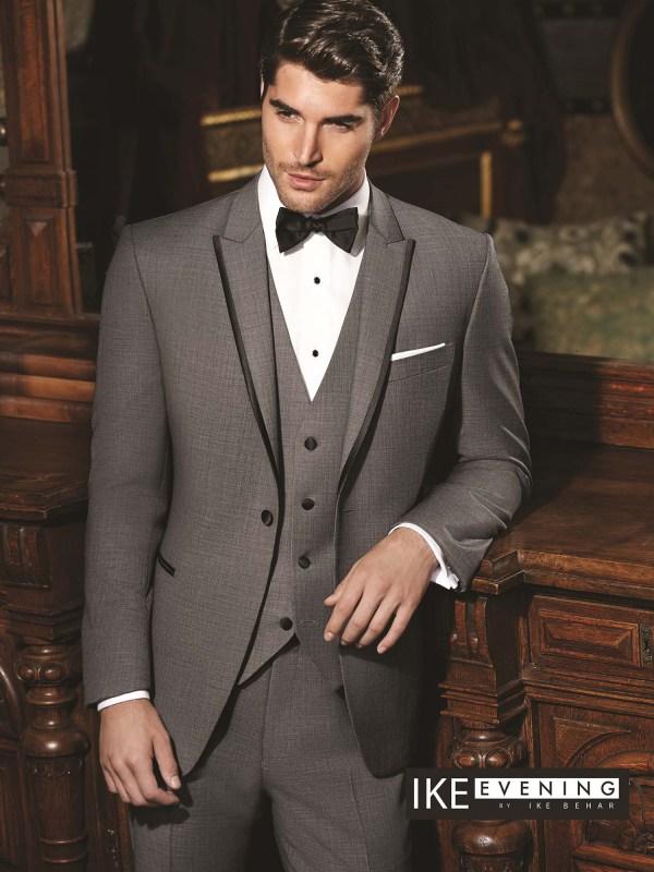 Sharkskin Grey Oscar Suit