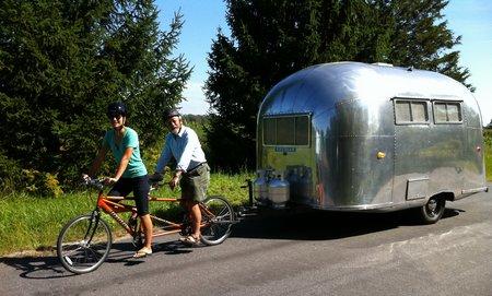 David and Sarika Tandem Bike