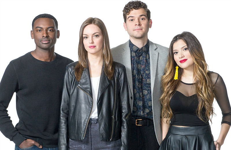 Cast members of Four In The Morning Lola Tash, Michelle Mylett, Daniel Maslany and Mazin Elsadig are photographed in Toronto, Ontario Thursday May 26/2016. ©KEVIN VAN PAASSEN PHOTOGRAPHY