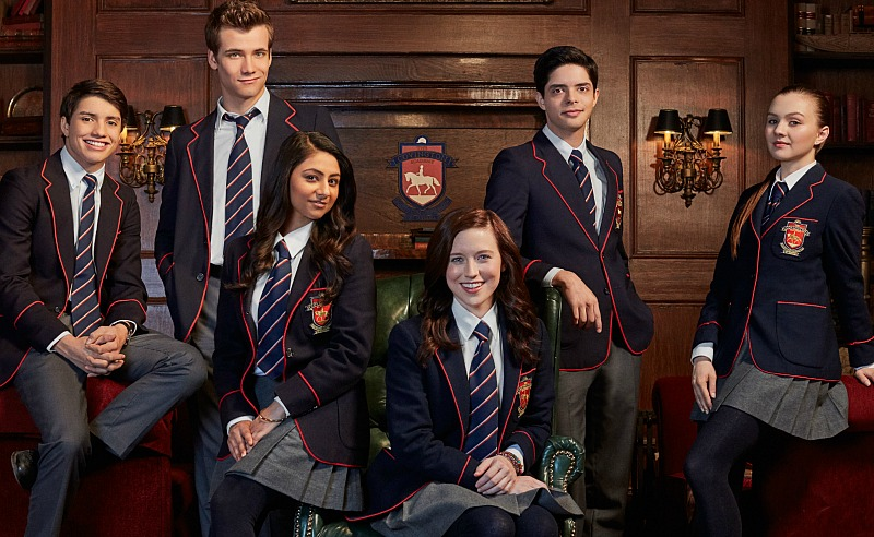 RIDE SEASON 1 GALLERY: Pictured: JOSH (Jonny Gray), ANYA (Rameet Rauli), WILL (Oliver Dench), KIT (Kendra Timmins), NAV (Manuel Pacific) and ELAINE (Alana Boden) in RIDE on Nickelodeon. Photo: Matthias Sebastian Clamer/Nickelodeon. © 2016 Viacom International, Inc. All Rights Reserved.   Vanities:Show Personnel:Key Makeup: Cathie Irvine Assistant Makeup: Rachael Affecter Key Hair: Anastasia Cucullo Assistant Hair: Debra Way Costume Designer: Michael Harris   Productions Personnel:Shea Hurley: Prod. Wardrobe Stylist Anatasia Patellis: Assistant Wardrobe Stylist Jamie Needham: Assistant Wardrobe Stylist