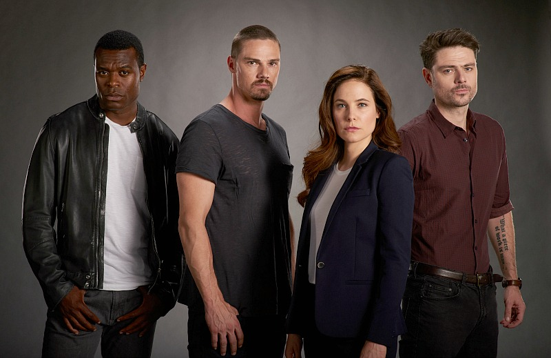 Lyriq Bent as Frank, Jay Ryan as Joel, Caroline Dhavernas as Mary and Richard Short as Des