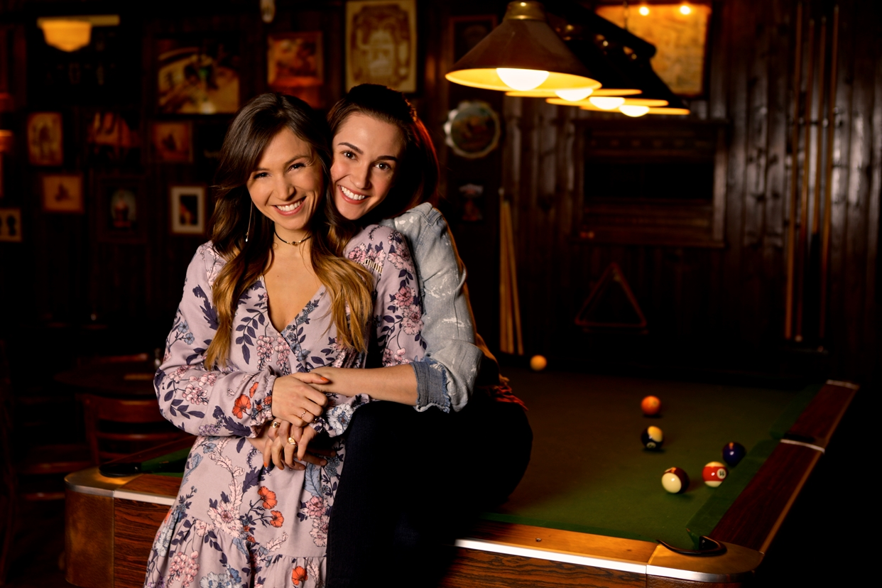 Dominique Provost-Chalkley as Waverly Earp and Kat Barrell as Nicole Haught