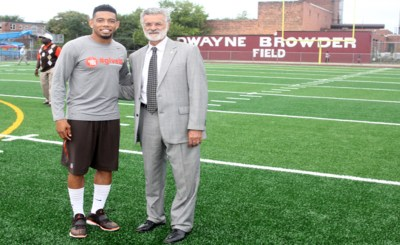 Image of Mayor Frank Jackson and Joe Haden