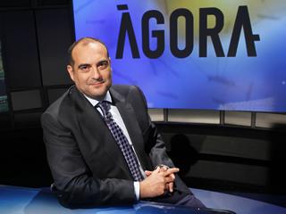 """Xavier Bosch, presentador i director d'""""Àgora"""""""