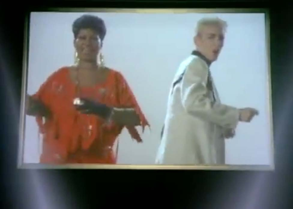 Eurythmics (with Aretha Franklin) - Sisters Are Doin' It for Themselves - Official Music Video