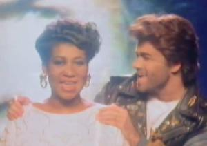 Aretha Franklin George Michael - I Knew You Were Waiting For Me - Official Music Video