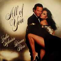 Julio Iglesias Diana Ross All Of You Single Cover
