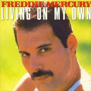 Freddie Mercury - Living On My Own - single cover - 1985