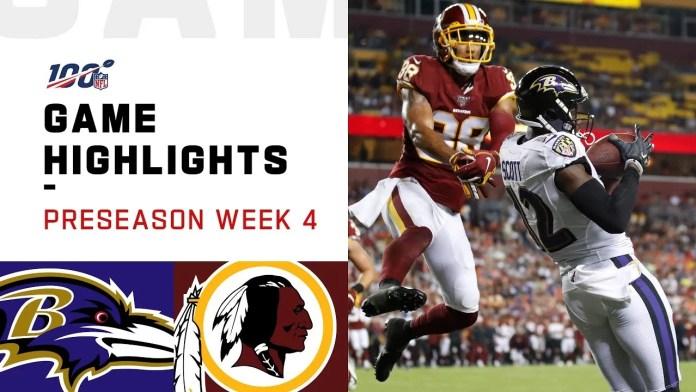 NFL 2019 Week 4 Highlights - Ravens vs. Redskins