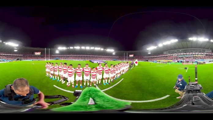 360 footage of the last Japan anthem at Rugby World Cup 2019