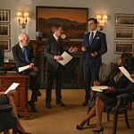 """Ships and Countries"" -- When an American tech CEO goes missing in a foreign country, Elizabeth navigates complicated diplomatic terrain to get him back without triggering a regional conflict. Also, things get personal when Stevie and Henry testify at House impeachment proceedings, on MADAM SECRETARY, Sunday, Nov. 24 (10:00-11:00 PM, ET/PT) on the CBS Television Network. Pictured Kevin Rahm as Mike B. Photo: Mark Schafer/CBS ©2019 CBS Broadcasting, Inc. All Rights Reserved"
