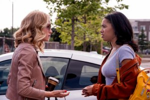 """DARE ME -- """"Fog of War"""" Episode 109 -- Pictured: (l-r) Willa Fitzgerald as Collette French, Herizen Guardiola as Addy Hanlon -- (Photo by: Rafy/USA Network)"""
