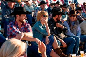 (L-R) Ian Bohen as Ryan, Kelly Reilly as Beth Dutton, Cole Hauser as Rip Wheeler and Kevin Costner as John Dutton. Episode 3 of Yellowstone