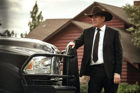 Kevin Costner as John Dutton. Episode 5 of Yellowstone - - Cowboys and Dreamers