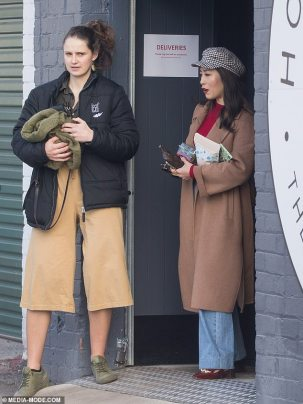 MasterChef judge Melissa Leong is spotted embracing a friend in -Melbourne