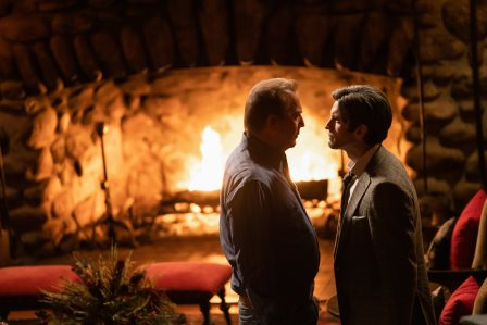 Yellowstone Season 3 Episode 7 - (L-R) Kevin Costner as John Dutton and Wes Bentley as Jamie Dutton.