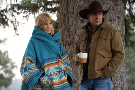 "Yellowstone season 3 Episode 6 - ""All for Nothing"".jpg (L-R) Kelly Reilly as Beth Dutton and Kevin Costner as John Dutton."