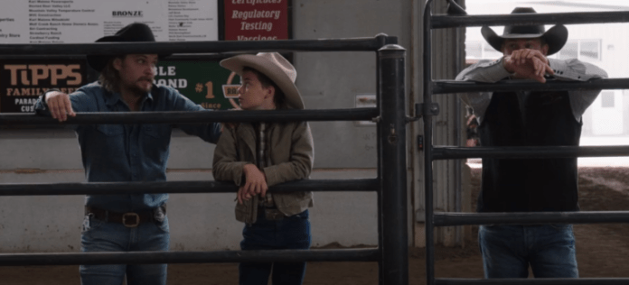 Kacy tate and johan talk about secrets in yellowstone season 3 episode 8